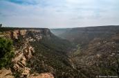 Vue sur Navajo Canyon le long de la route Mesa Top Loop, Mesa Verde