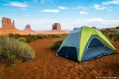 Camping The View Campground avec vue sur les buttes de Monument Valley