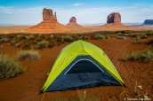 Tente au camping de Monument Valley, The View Campground