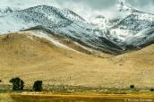 Plaine et montagnes enneigées de Ruby Lake fin septembre