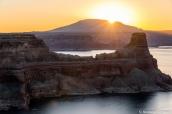 Lever de soleil sur Gunsight Butte , Alstrom Point