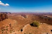Paysage de Canyonlands à Buck Canyon Overlook
