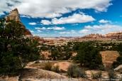 Paysage lors de la randonnée de Chesler Park, Canyonlands