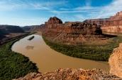 Gooseneck du Colorado le long de la Potash Road à proximité de Canyonlands
