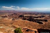 Vue sur le paysage de Canyonlands à Grand View Point Overlook