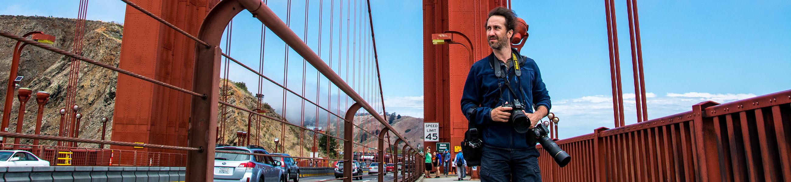 Balade sur le Golden Gate Bridge de San Francisco