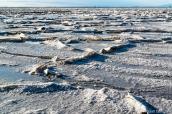 Croûte de sel de Bonneville Salt Flats, Utah