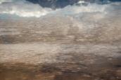 Paysage de Bonneville Salt Flats sous l'eau, au niveau de l'aire de repos le long de l'interstate