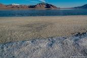 Sel, boue et eau à Bonneville Salt Flats, Utah