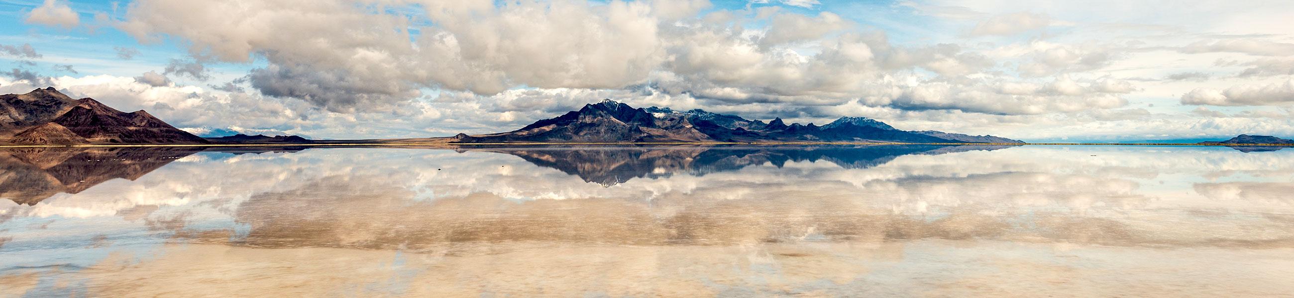 Bonneville Salt Flats sous l'eau