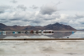 Stand Venturi pour un tournage de publicité à Bonneville Salt Flats