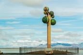 Tree of Life, une oeuvre de Karl Momen au bord de l'interstate à l'est de Bonneville Salt Flats