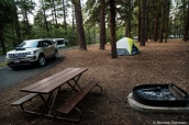 Emplacement de tente au camping North Rim Campground de la rive nord de Grand Canyon National Park, Arizona