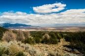 Plaines désertiques autour de Great Basin vues de la route scenic drive, Nevada