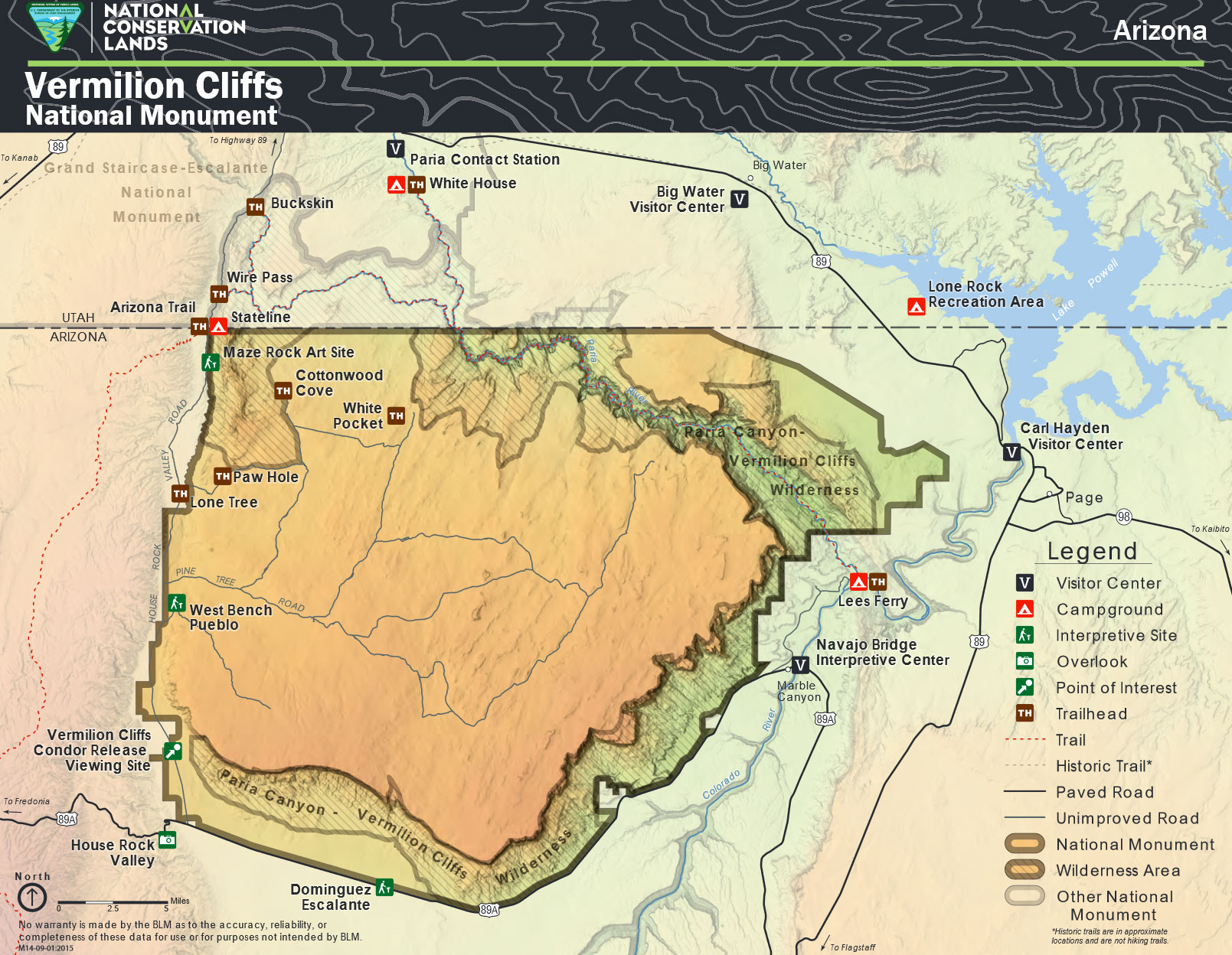 Carte Alternative De Vermilion Cliffs