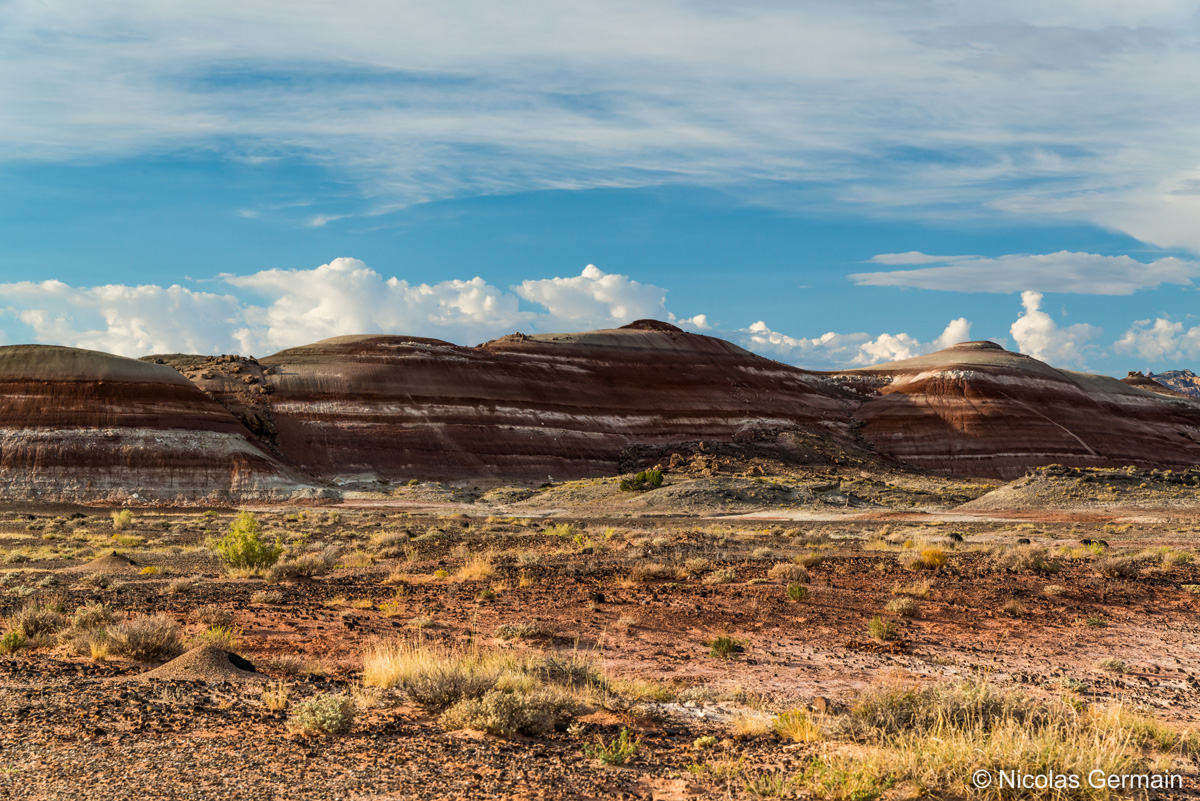 Bentonite Hills sur la piste de Cathedral Valley, Capitol Reef