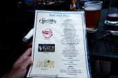 Menu des bières et du vin d'Escalante Outfitters