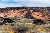 Champs de lave noire sur les contreforts de Snow Canyon State Park