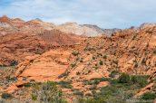 Paysage coloré de Snow Canyon State Park