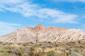 Blancheur caractéristique de certaines roches de Snow Canyon State Park