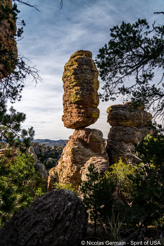 Rocher équilibriste Pinnacle Balanced Rock, Chiricahua