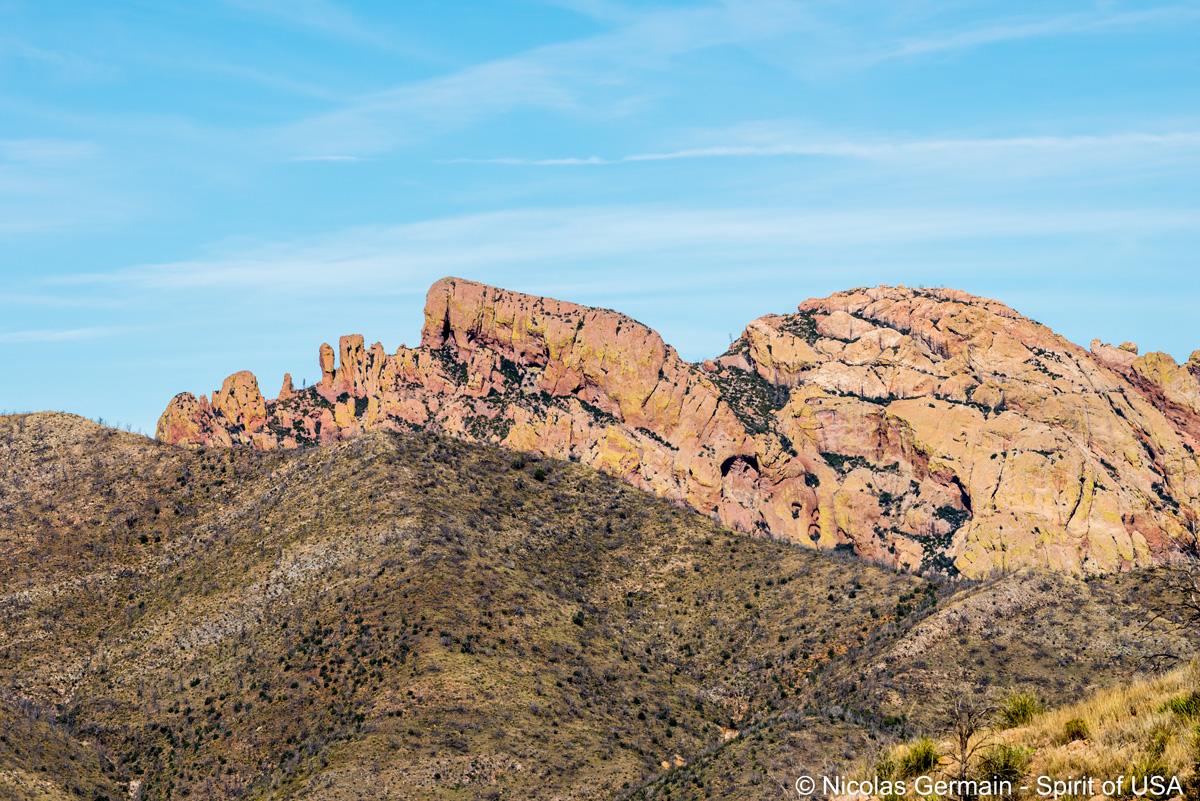 Cochise Head, montagnes formant la tête de Cochise, Chiricahua