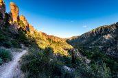 Sentier Hailstone Trail faisant le lien entre Echo Canyon et Ed Riggs, Chiricahua