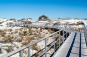 Chemin de bois accessible aux personnes handicapées à White Sands