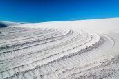 Gypse en cours de solidification en forme arrondie dûe au vent, White Sands