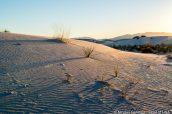 Coucher de soleil sur les dunes de Whites Sands National Monument