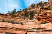 Two Pines Arch, sur le chemin vers le sommet de Progeny Peak, Zion