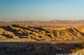 Carrizo Badlands au coucher du soleil, Anza Borrego