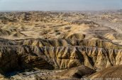 Paysage de Carrizo Badlands vu de Wind Caves, Anza Borrego