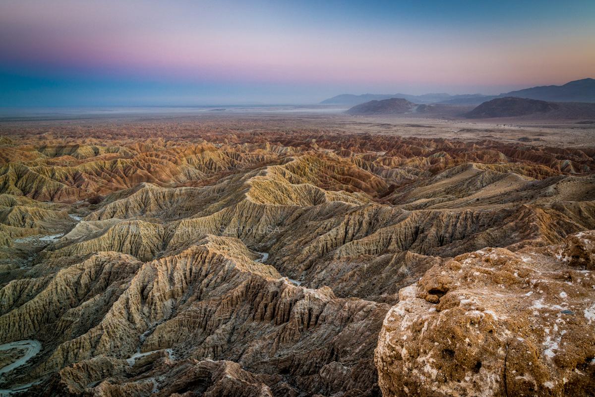 Désert et badlands vus de Fonts Point, Anza Borrego, Californie