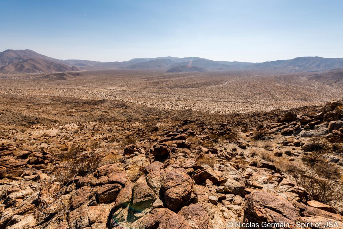 Etendue désertique vue de Kenyon Overllok près de Yaqui Pass, Anza Borrego