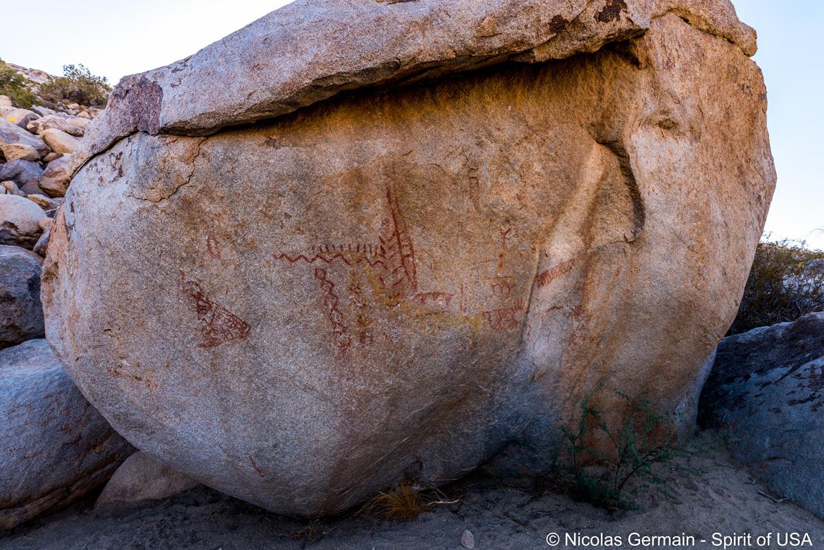 Pétroglyphes le long du sentier Pictograph Trail, Anza Borrego