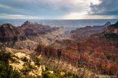 Vue du Grand Canyon à Bright Angel Point, North Rim
