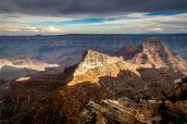 Coucher de soleil sur le point de vue Walhalla Overlook, Grand Canyon North Rim