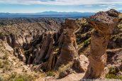 Hoodoos et vue sur le slot canyon, Kasha Katuwe Tent Rocks