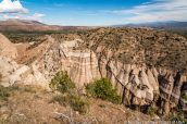 Panorama en haut de Slot Canyon Trail, Kasha Katuwe Tent Rocks