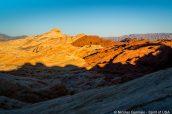 Paysage de Valley of Fire au coucher du soleil