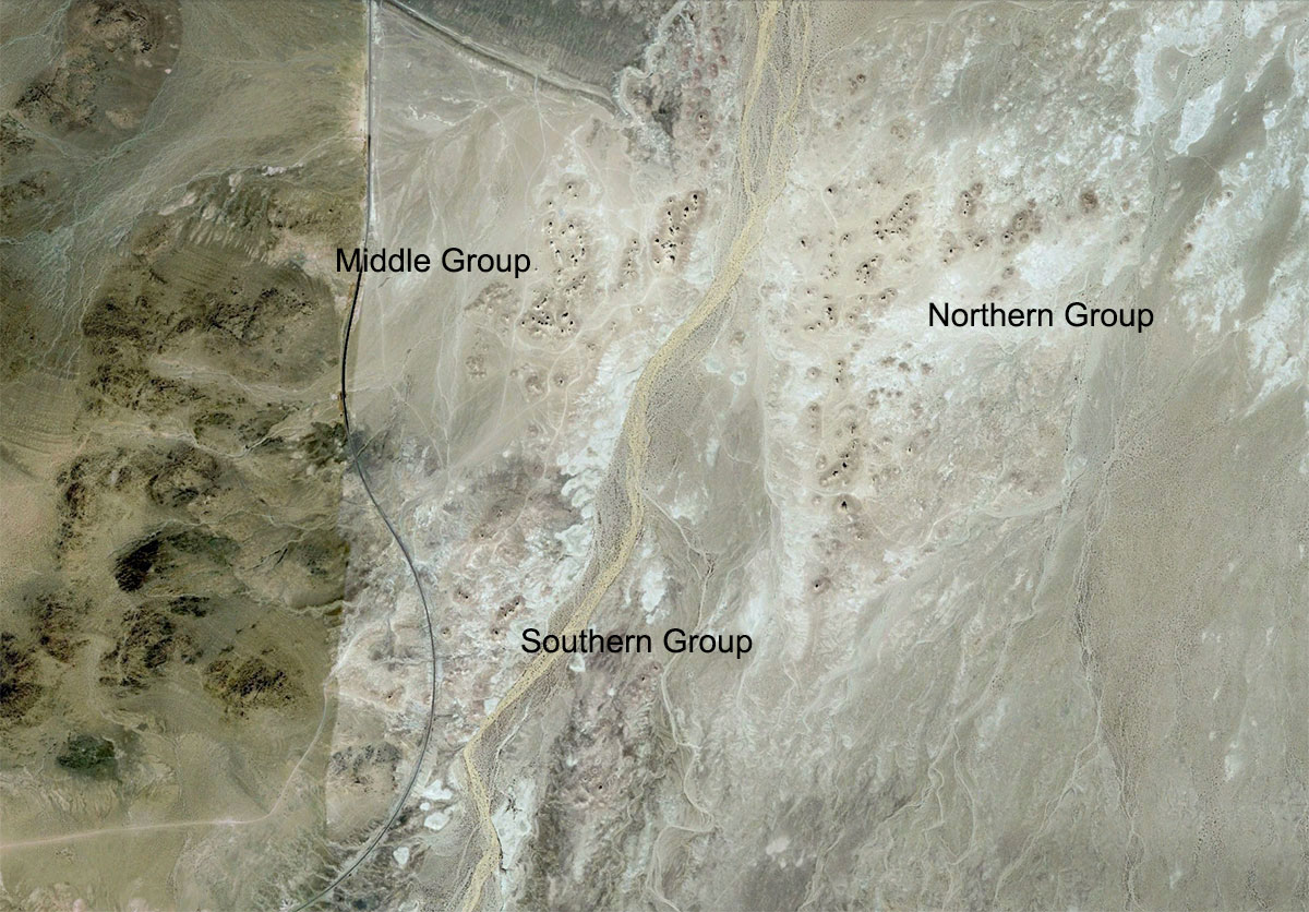 Carte aérienne de Trona Pinnacles