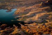 Rivages découpés du lac Powell vus d'Alstrom Point