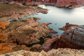 Rivages du lac Powell vus d'Alstrom Point, Glen Canyon