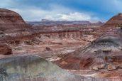 Paysage coloré de badlands à Lith Canyon, Hanksville