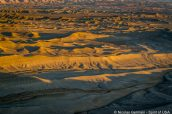 Lever de soleil incandescent sur les badlands à Moonscape Overlook