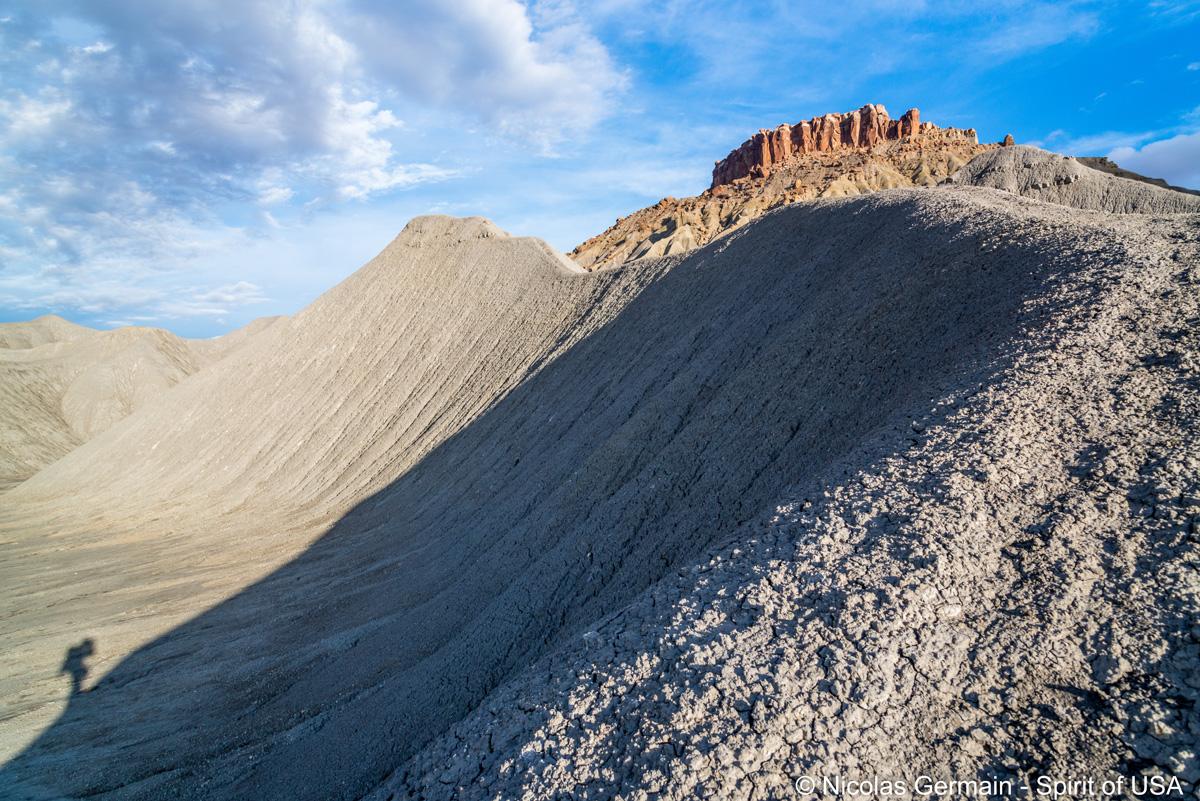 Début de la randonnée de North Caineville Mesa, Utah