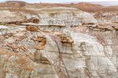 Section plus chaotique avec nombre de hoodoos et formations rocheuses, Burnham Badlands