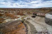 Paysage de Burnham Badlands, Nouveau-Mexique