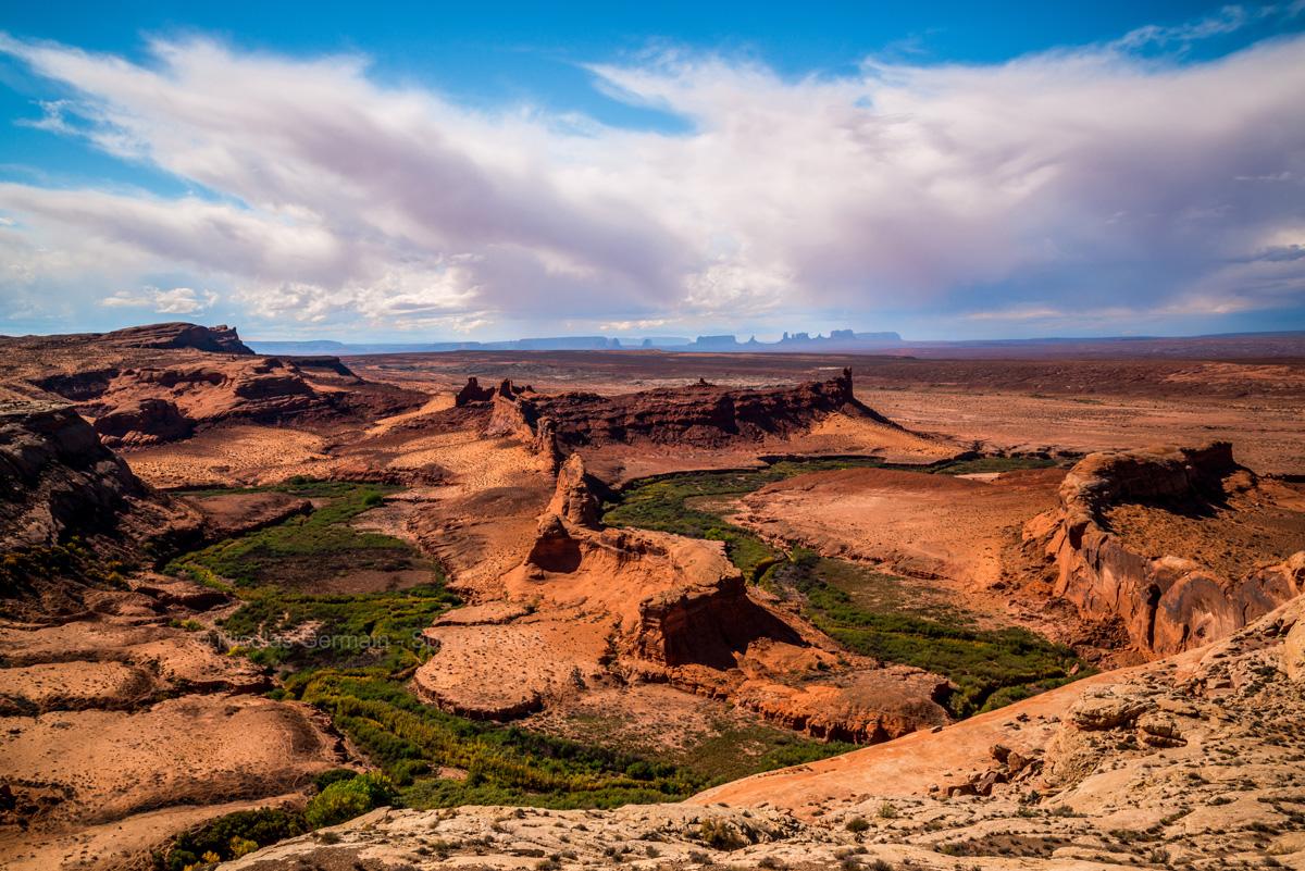 Un gooseneck de la San Juan River en territoire Navajo